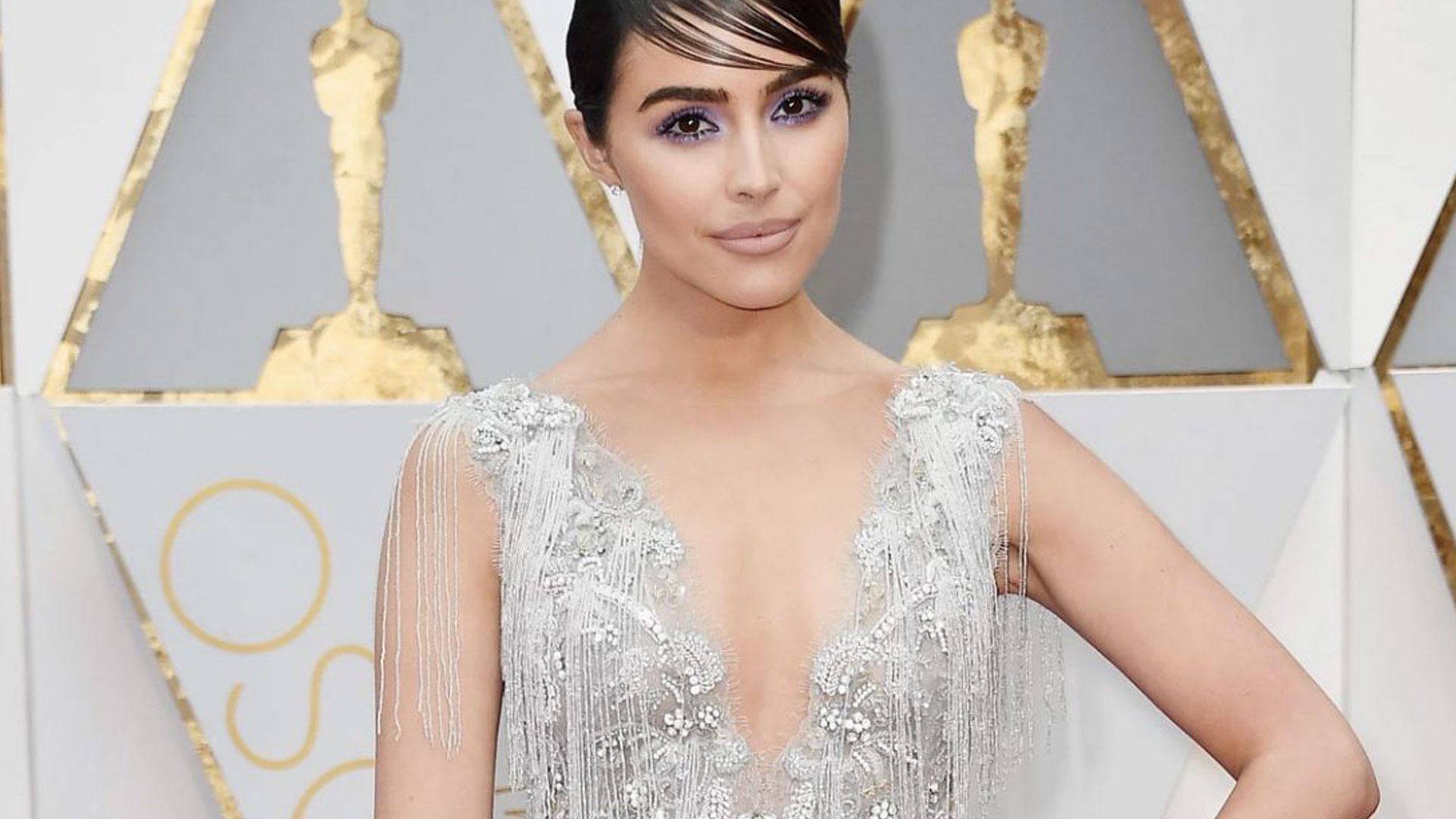 Olivia Culpo in Stella Artois at the Oscars